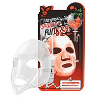 Elizavecca Маска тканевая для лица с красным женьшенем - Red ginseng deep power ringer mask, 23мл